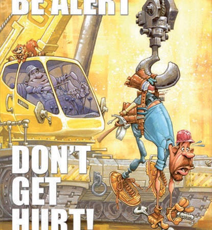 be-alert-dont-get-hurt-safety-poster