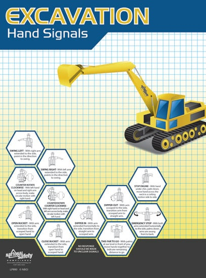 19 Construction Excavation Safety Poster Background Manual Guide